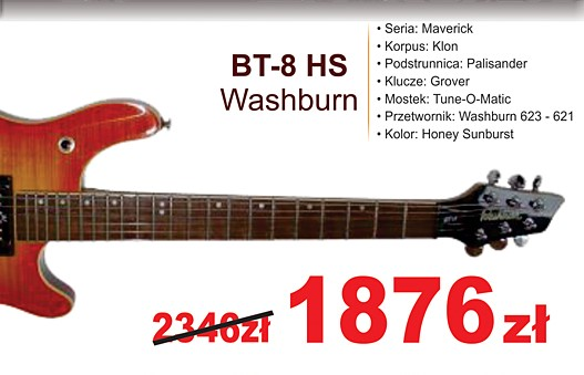 washburn bt-8 hs