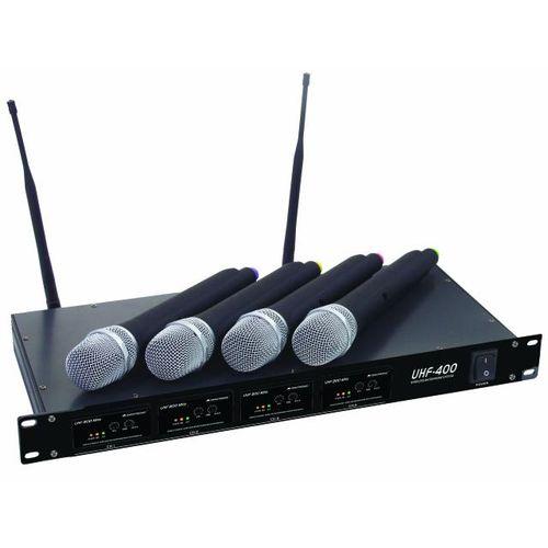Foto Omnitronic UHF 400 mk II - zestaw 4 mikrofonów bezprzewodowych