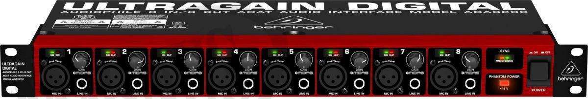 behringer ultragain pro 8 digital ada8200 behringer magnus hurtownia muzyczna. Black Bedroom Furniture Sets. Home Design Ideas