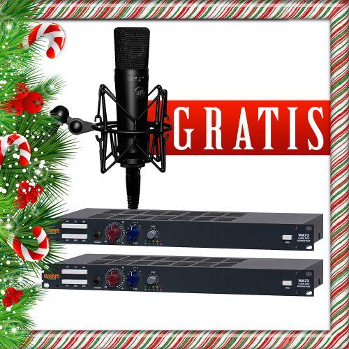 2x Warm Audio WA73 + gratisy promocja świąteczna