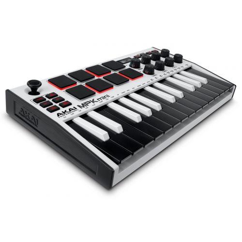Akai MPK Mini MKIII White ultrakompaktowa klawiatura sterująca